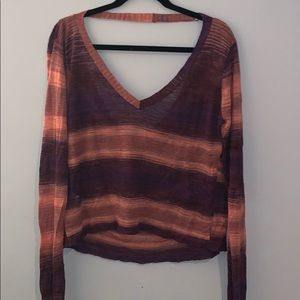 BCBG Max Azria sunset sweater draped back